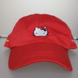 HELLO KITTY X PACMAN X BAIT hat